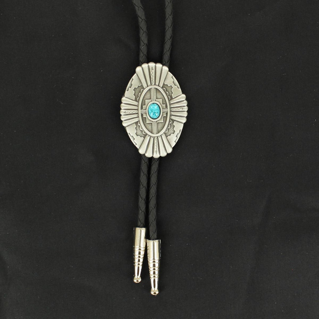 M&F Western Products Antique Southwest with Turquoise Stone Bolo Tie - West 20 Saddle Co.