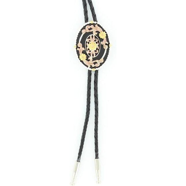 M&F Western Products Tri Color Flower Bolo Tie - West 20 Saddle Co.
