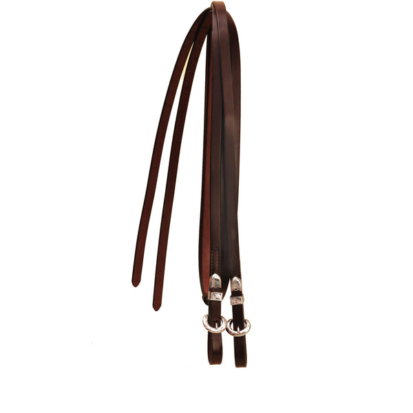 Tory Leather Silver Buckle End Show Reins - West 20 Saddle Co.