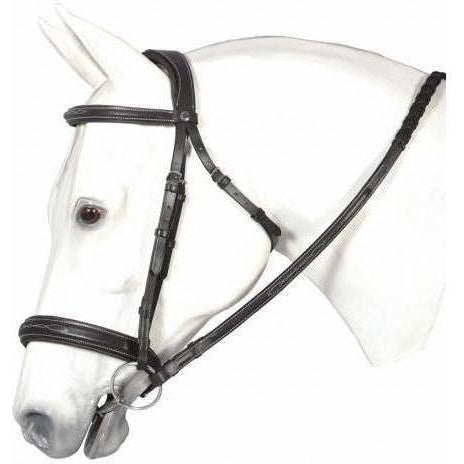 Henri de Rivel Mono Crown Bridle With Padded Wide Noseband - West 20 Saddle Co.