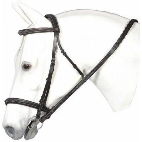 Henri de Rivel Pro Fancy Raised Comfort Crown Padded Bridle With Fancy Raised Reins - West 20 Saddle Co.