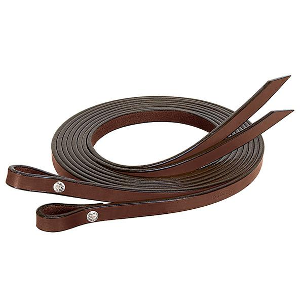 "Weaver Leather Bridle Leather Split Reins, 5/8"" x 7' - West 20 Saddle Co."