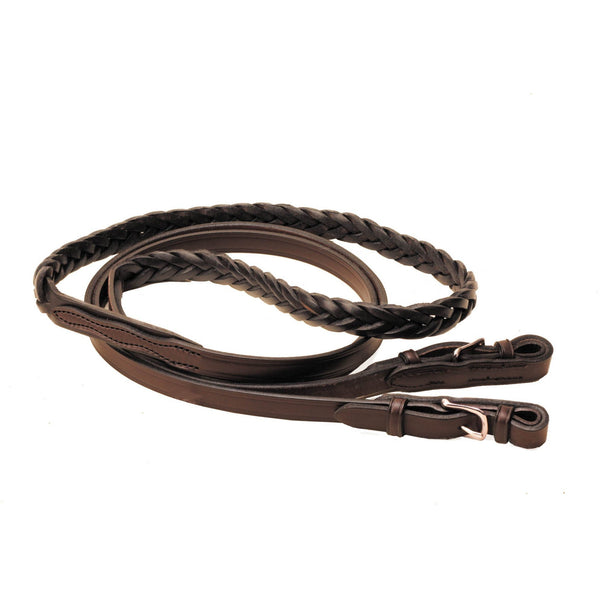 "Tory Leather 5/8"" x 8' One Piece Roping Reins"