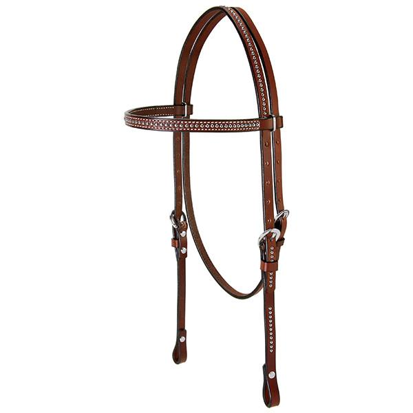 Weaver Leather Leather Headstall with Spots, Pony - West 20 Saddle Co.