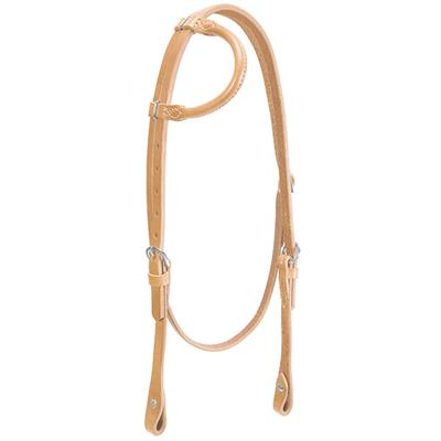 Weaver Leather Horizons Rolled Sliding Ear Headstall - West 20 Saddle Co.