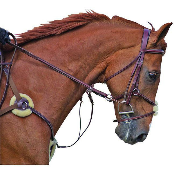 M. Toulouse 5 Point Breastplate With Running Martingale Attachment - West 20 Saddle Co.