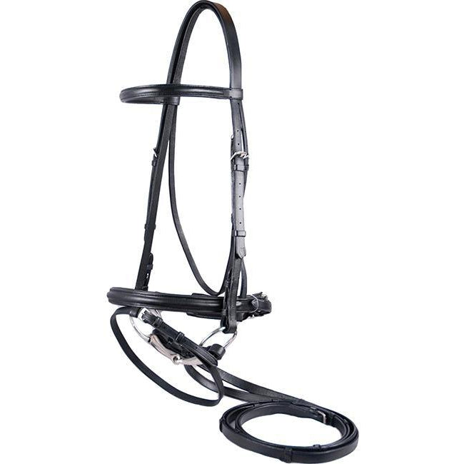 Flex Rider Plain Raised Dressage Bridle - West 20 Saddle Co.