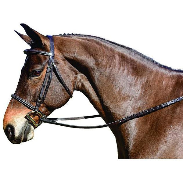 Flex Rider Chocolate Fancy Stitched Raised Snaffle Bridle - West 20 Saddle Co.