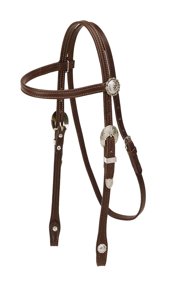 Tory Leather Pony Brow Band Headstall