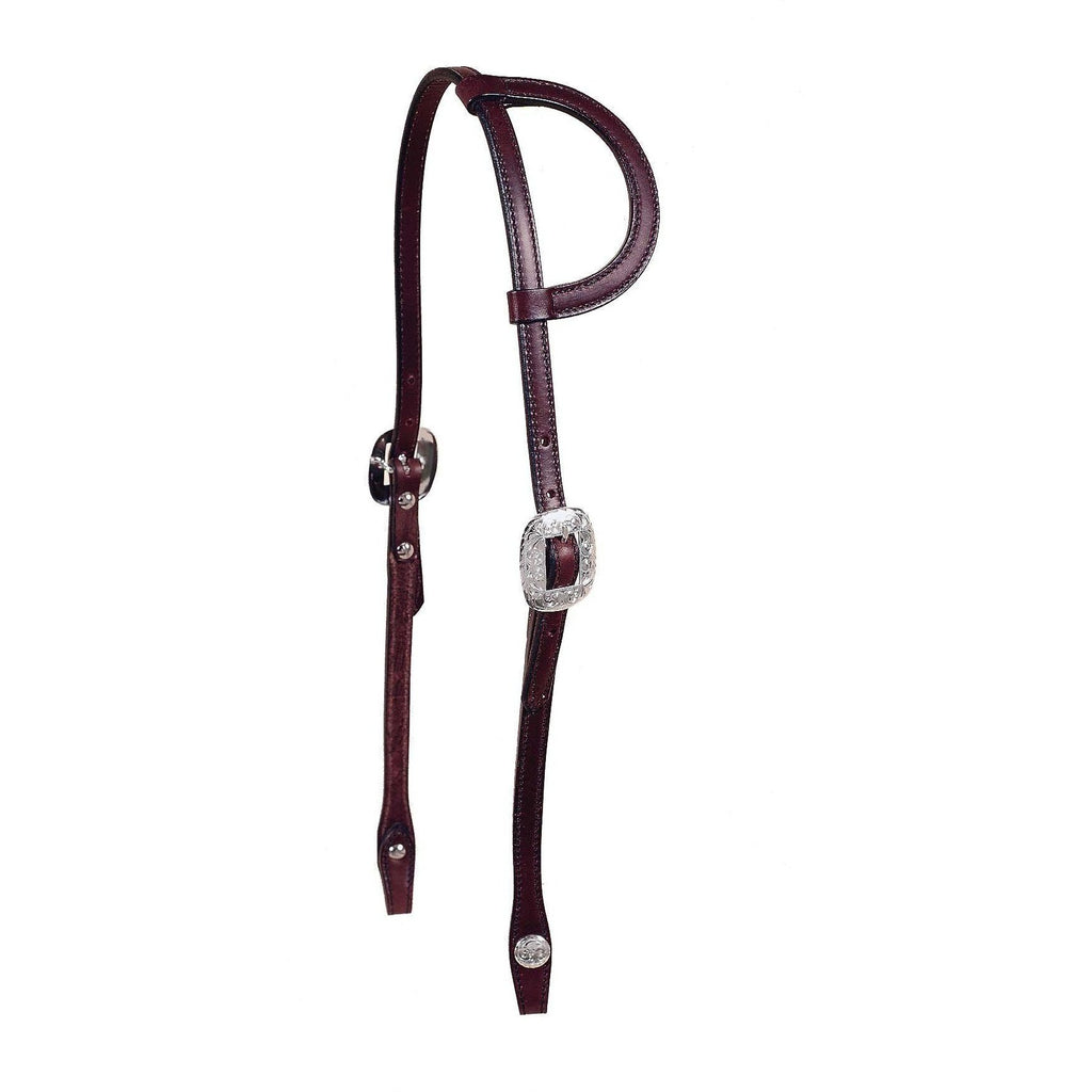 Tory Leather Durango One Ear Show Headstall - West 20 Saddle Co.