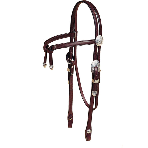 Tory Leather Oklahoma Knotted Brow Show Headstall - West 20 Saddle Co.