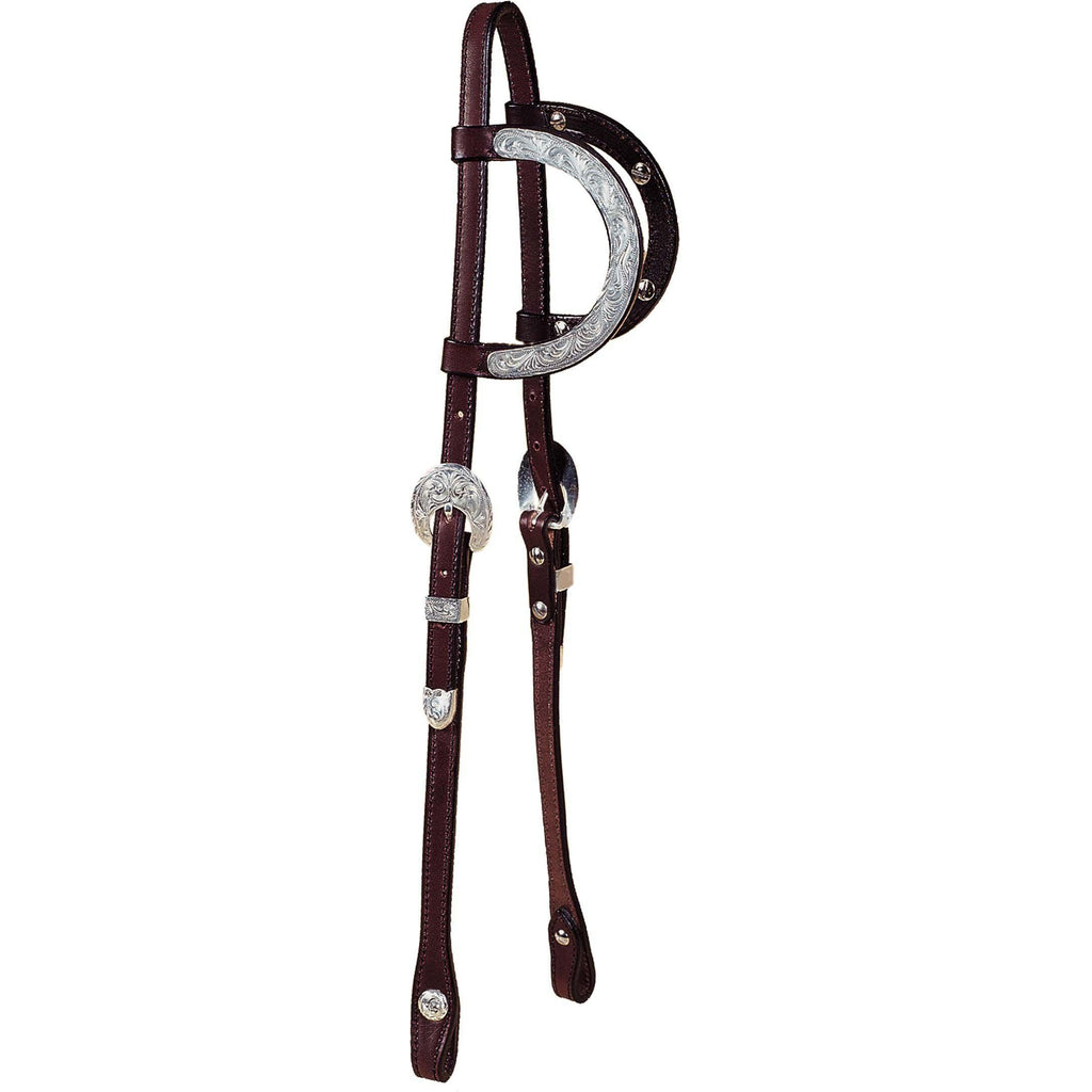 Tory Leather Oklahoma Double Ear Show Headstall - West 20 Saddle Co.