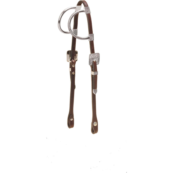 Tory Leather Solid Silver Double Ear Headstall - West 20 Saddle Co.