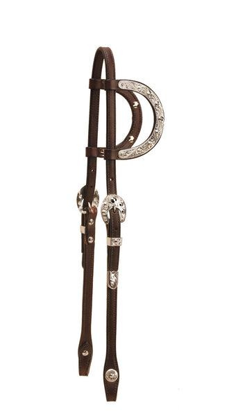 Tory Leather Pecos Bill Double Ear Headstall