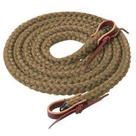 "Weaver Leather Silvertip Hollow Braid Trail Reins, 5/8"" x 10' - West 20 Saddle Co."