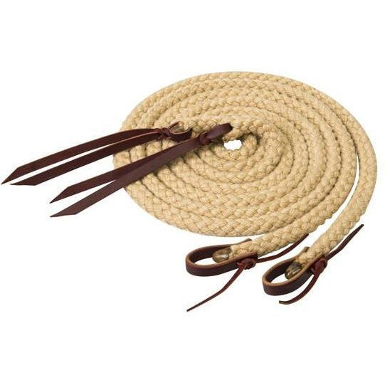 "Weaver Leather Silvertip Hollow Braid Split Reins, 5/8"" x 8' - West 20 Saddle Co."