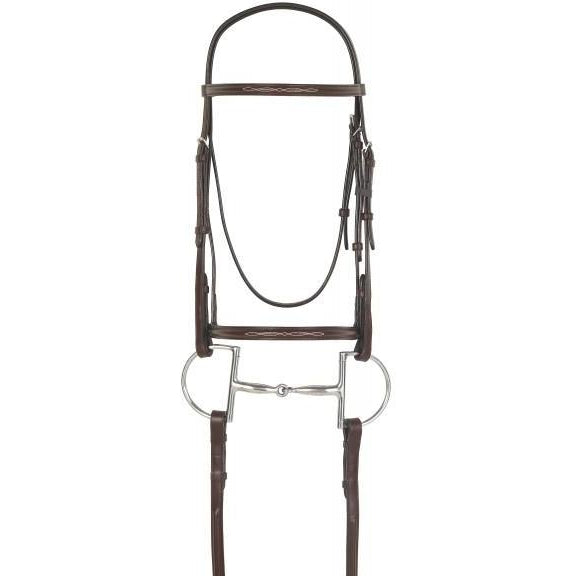 Camelot Raised Fancy Stitch Snaffle Bridle - West 20 Saddle Co.