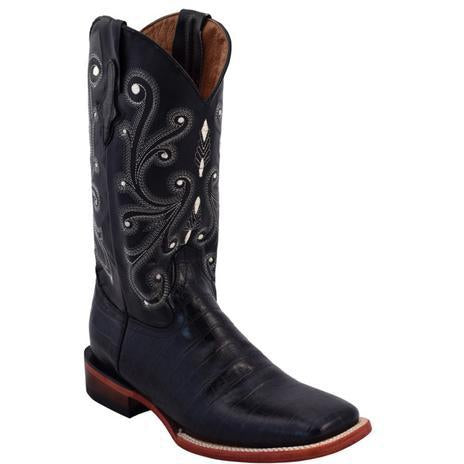 Ferrini Men's Print Belly Gator Black Boot