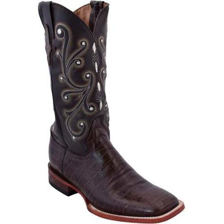 Ferrini Men's Print Belly Gator Chocolate Boot