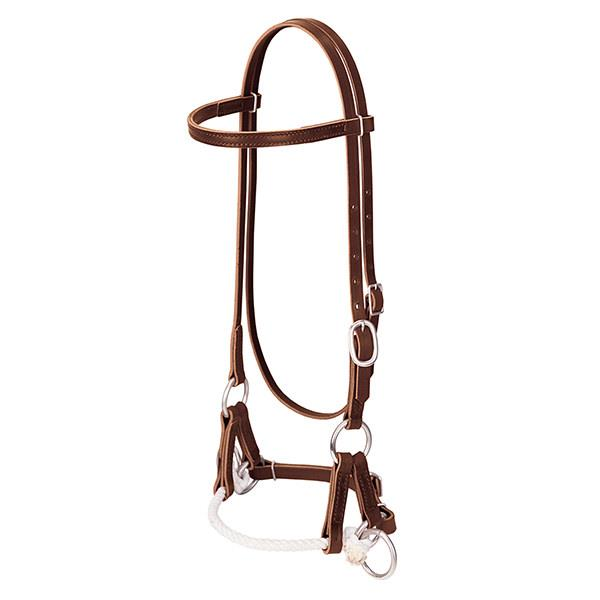 Weaver Leather Deluxe Latigo Leather Side Pull, Single Rope - West 20 Saddle Co.