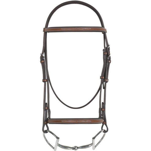 Rodrigo Pessoa Fancy Raised Padded Bridle With Raised Fancy Stitch Lace Reins - West 20 Saddle Co.