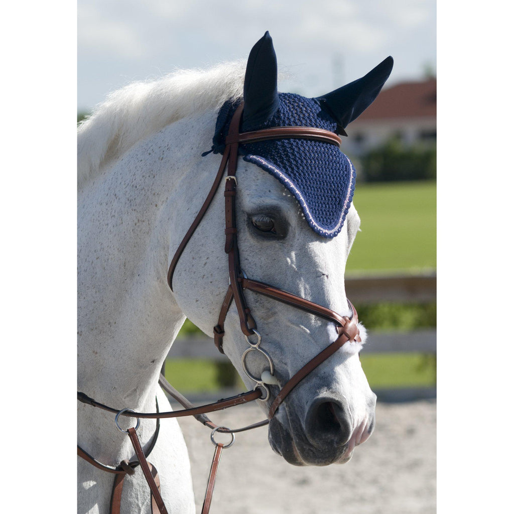 Rodrigo Pessoa Figure 8 Padded Jumper Bridle With Rubber Covered Reins - West 20 Saddle Co.
