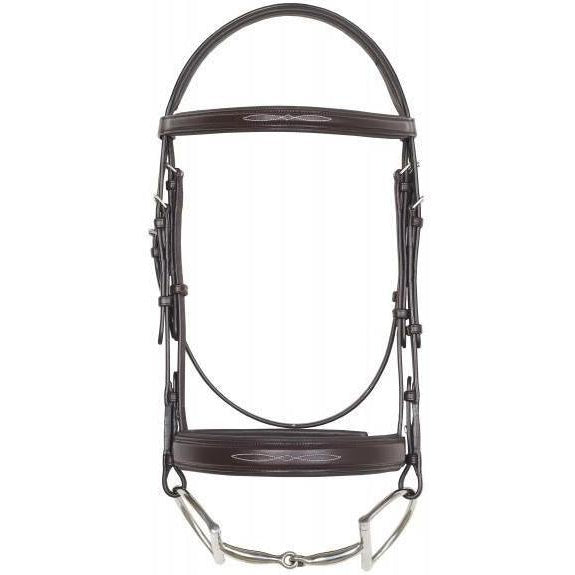 Camelot Fancy Stitched Wide Noseband Comfort Padded Snaffle Bridle - West 20 Saddle Co.