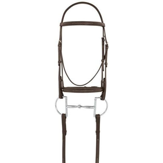 Camelot Fancy Raised Padded Bridle With Laced Reins - West 20 Saddle Co.