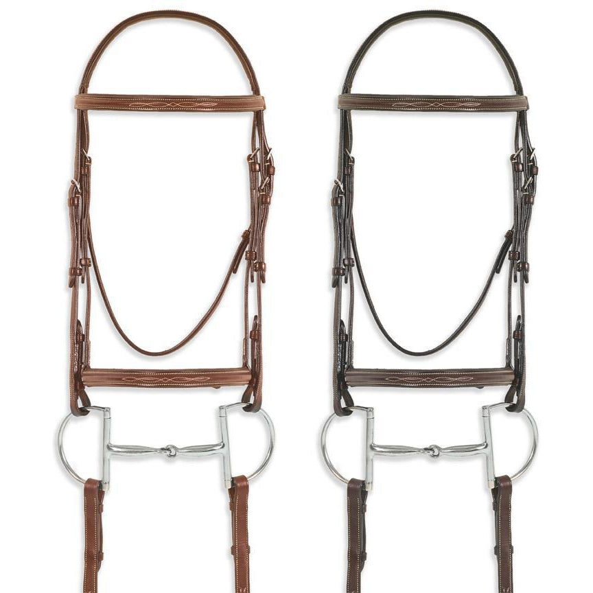 Pessoa Pro Fancy Stitched Raised Bridle - West 20 Saddle Co.