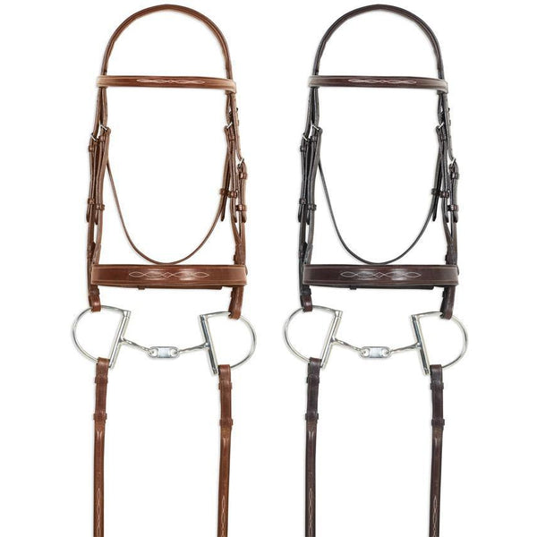 Pessoa Pro Fancy Stitched Wide Nose Bridle - West 20 Saddle Co.