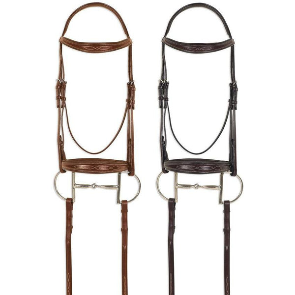 Pessoa Pro Fancy Stitched Tapered Bridle - West 20 Saddle Co.