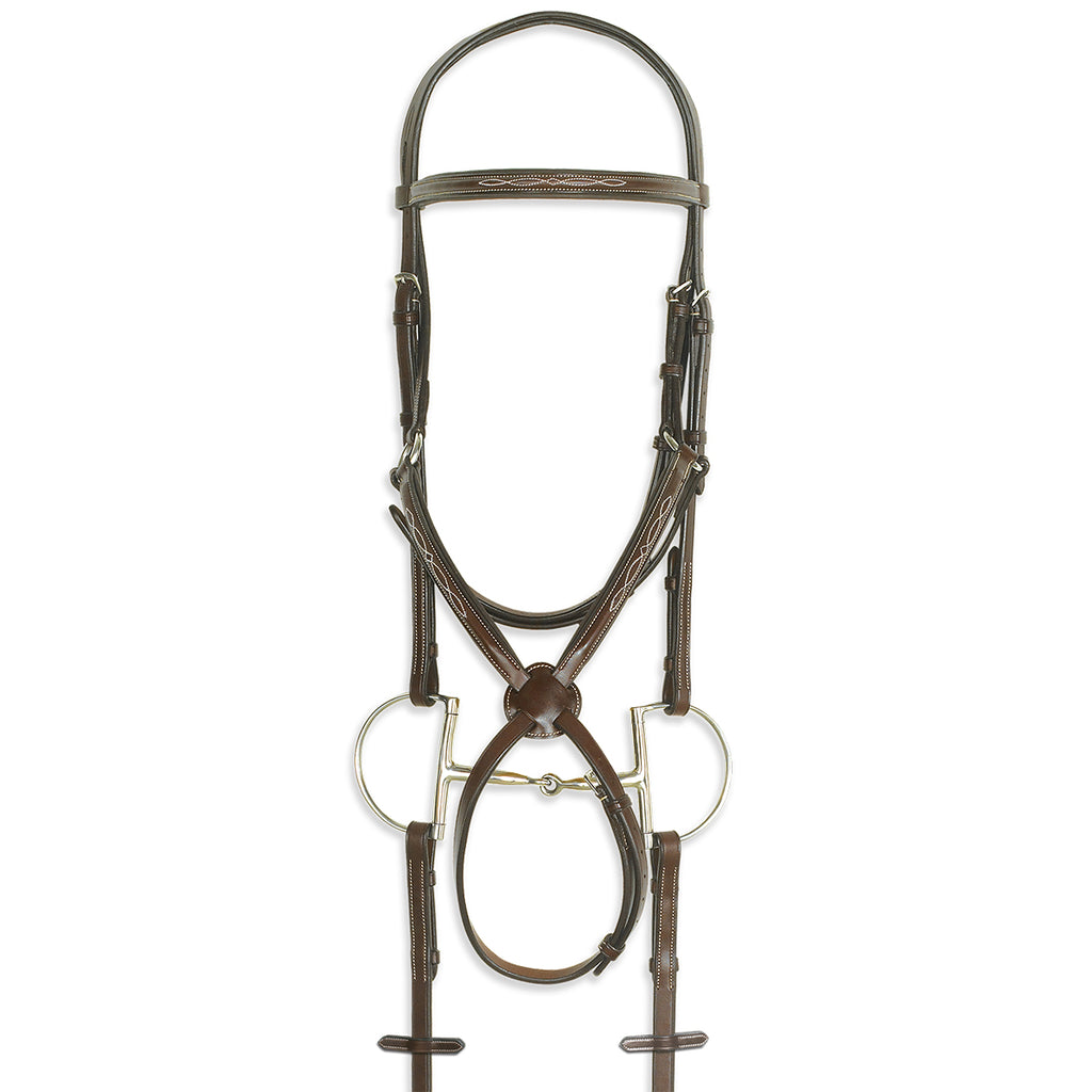 Pessoa Pro Fancy Stitched Figure-8 Bridle - West 20 Saddle Co.