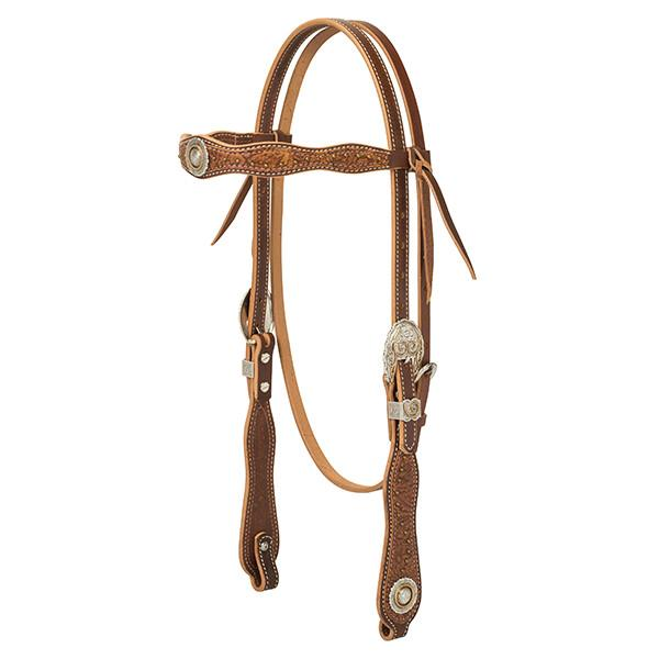Weaver Leather Western Edge Browband Headstall, Sunset - West 20 Saddle Co.