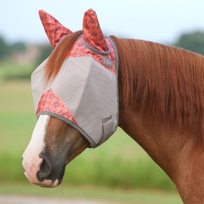 Cashel Crusader Pattered Fly Mask - Standard With Ears - West 20 Saddle Co.