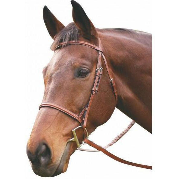 Henri de Rivel Advantage Plain Raised Snaffle Bridle With Laced Reins - West 20 Saddle Co.