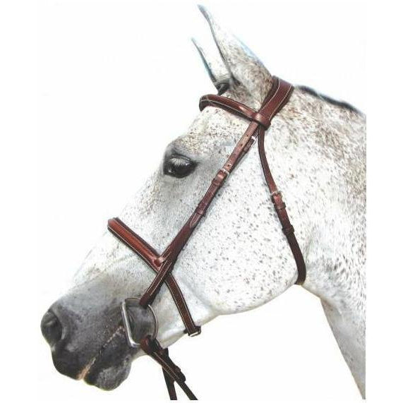 Henri de Rivel Pro Mono Crown Padded Bridle With Laced Reins - West 20 Saddle Co.