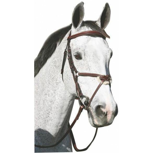 Henri de Rivel Pro Mono Crown Raised Figure 8 Bridle With Rubber Reins - West 20 Saddle Co.