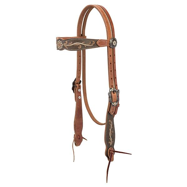 Weaver Leather Country Charm Browband Headstall - West 20 Saddle Co.