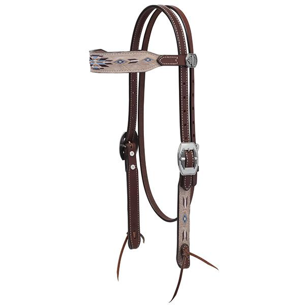Weaver Leather Winter Star Browband Headstall - West 20 Saddle Co.
