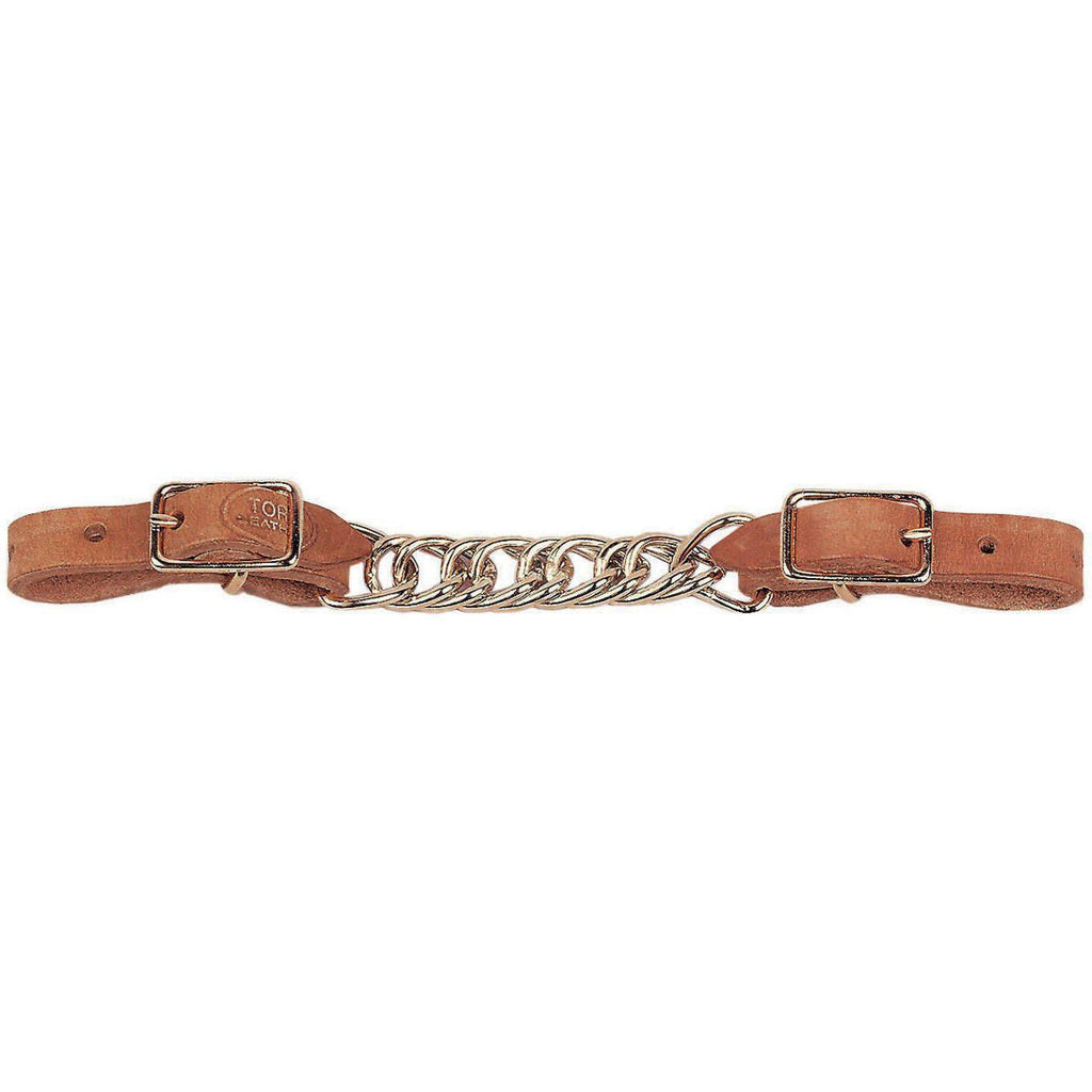 Tory Leather Flat Chain Curb - West 20 Saddle Co.