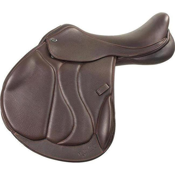 M. Toulouse Marielle +4 Platinum Monoflap Eventing Saddle With Genesis - West 20 Saddle Co.