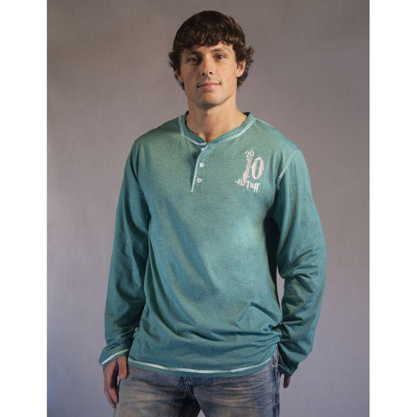 Aqua Green Henley - West 20 Saddle Co.