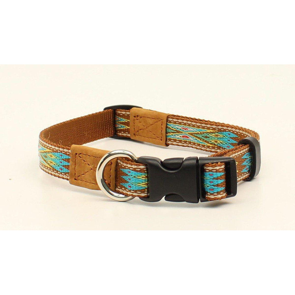 M&F Western Products Brown Southwest Dog Collar