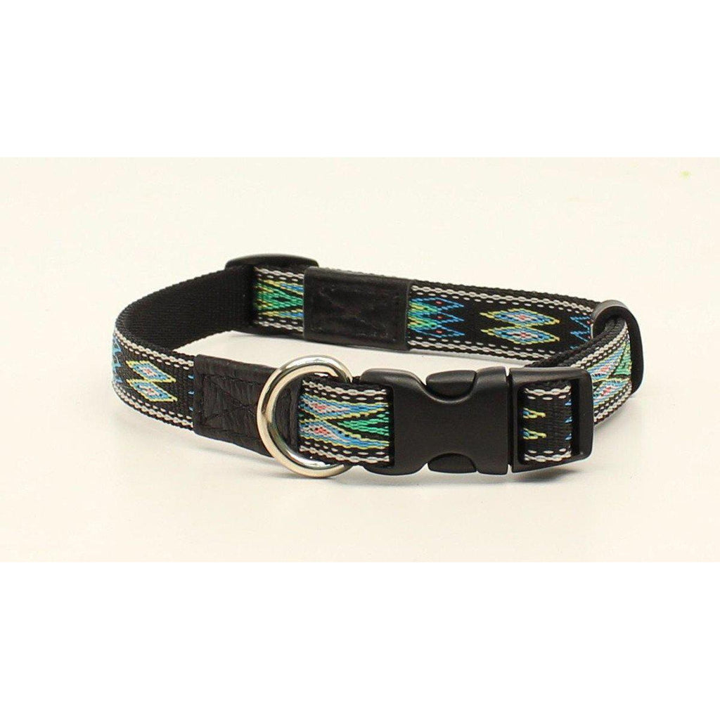 M&F Western Products Black & Turquoise Southwest Dog Collar - West 20 Saddle Co.