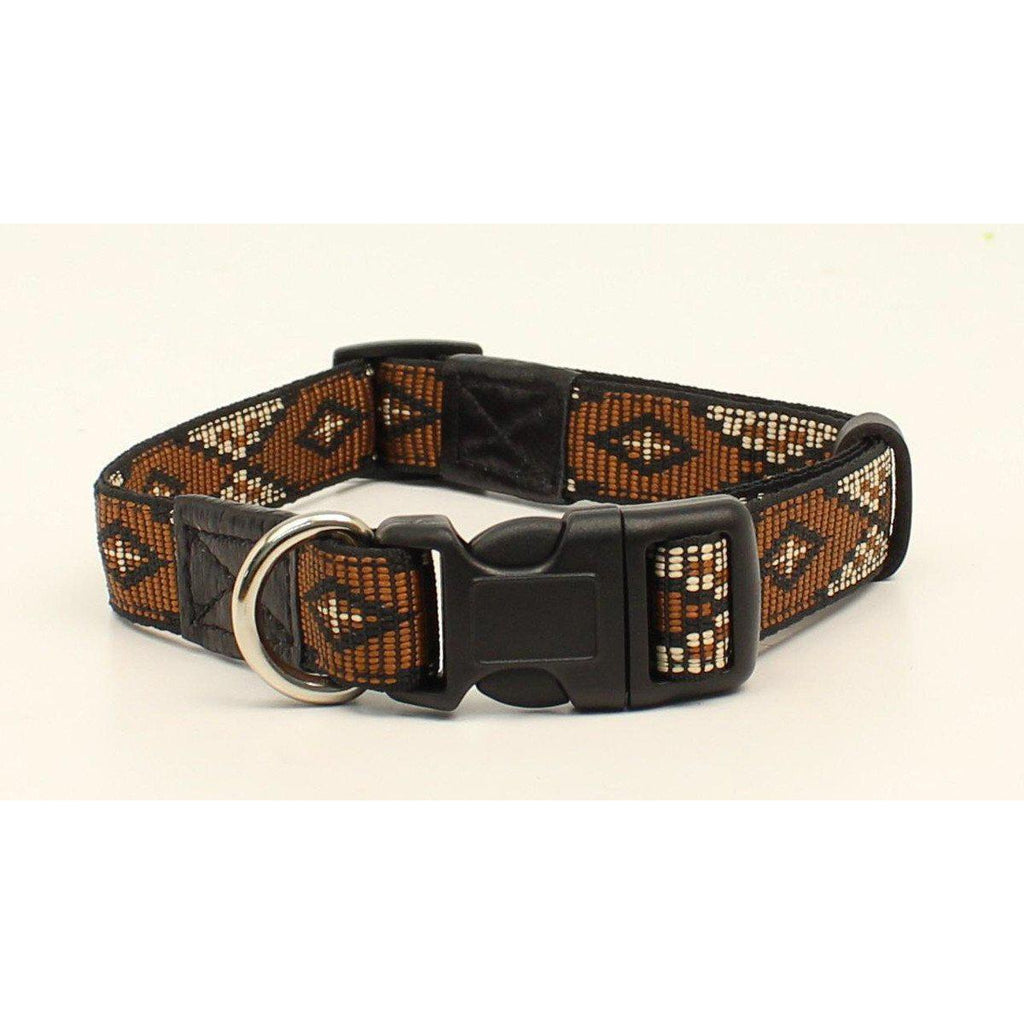 M&F Western Products Brown & Cream Southwest Dog Collar - West 20 Saddle Co.