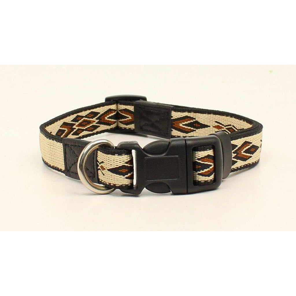 M&F Western Products Cream & Chocolate Southwest Dog Collar - West 20 Saddle Co.