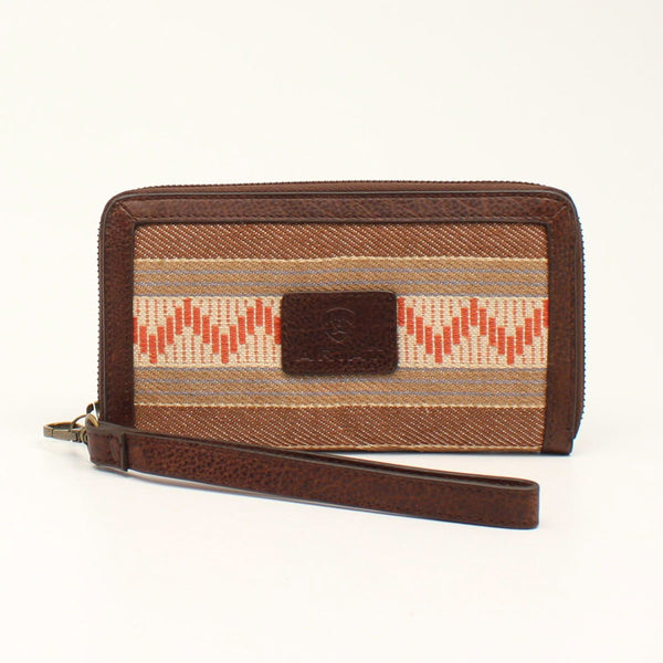 Ariat Serape and Leather Clutch Wallet