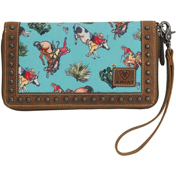 Ariat Turquoise Bronco Clutch