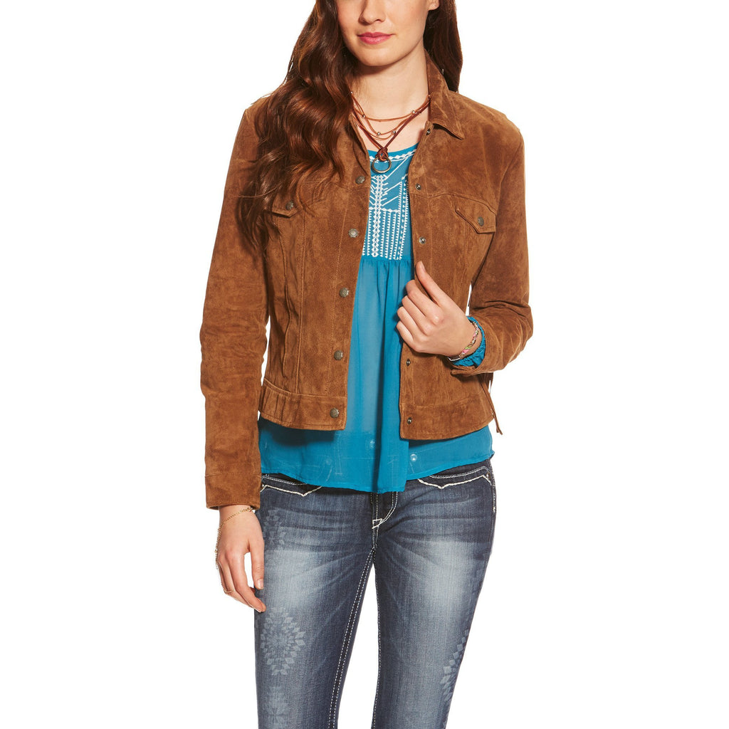 Women's Fringe Trucker Jacket - West 20 Saddle Co.