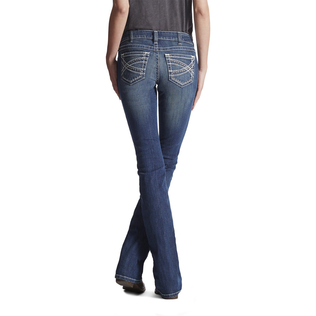 Ariat Womens Mid Rise Stretch Entwined Wide Leg Trouser Jean